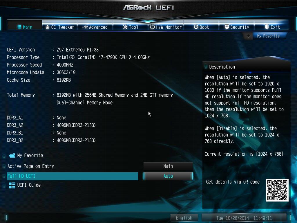 AsRock UEFI BIOS