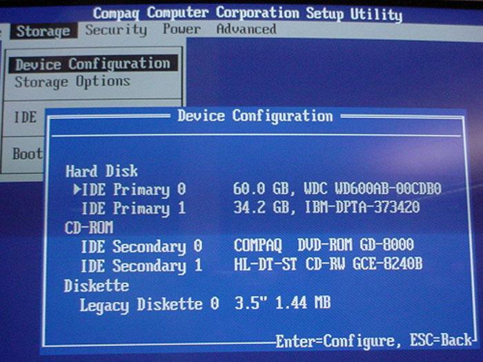 Compaq BIOS